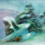 Архипова-Елена-Серия-Алтай зимний-Среди-снегов-б-акв 2002 г